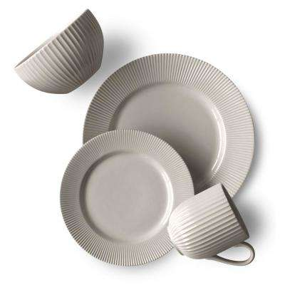 Chester 16-Piece Grey Chester Dinnerware Set