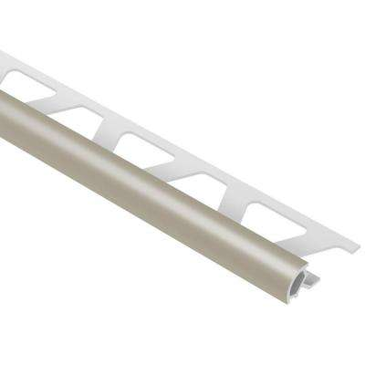 Rondec Grey 1/4 in. x 8 ft. 2-1/2 in. PVC Bullnose Tile Edging Trim