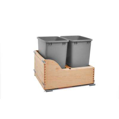Double 35 Qt. Pullout Waste Container