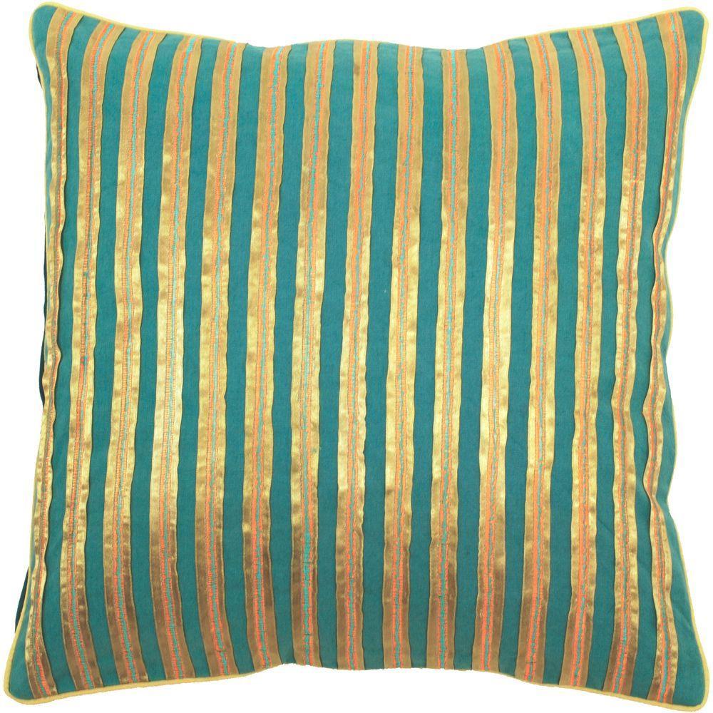 StripedA 18 in. x 18 in. Decorative Down Pillow