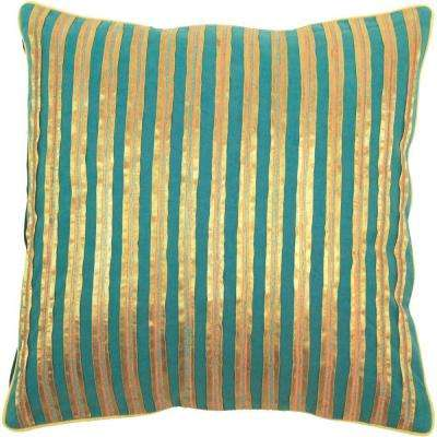 StripedA 18 in. x 18 in. Decorative Down Pillow