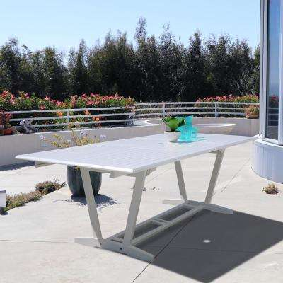 Bradley Rectangular Wood Outdoor Dining Table with Extension