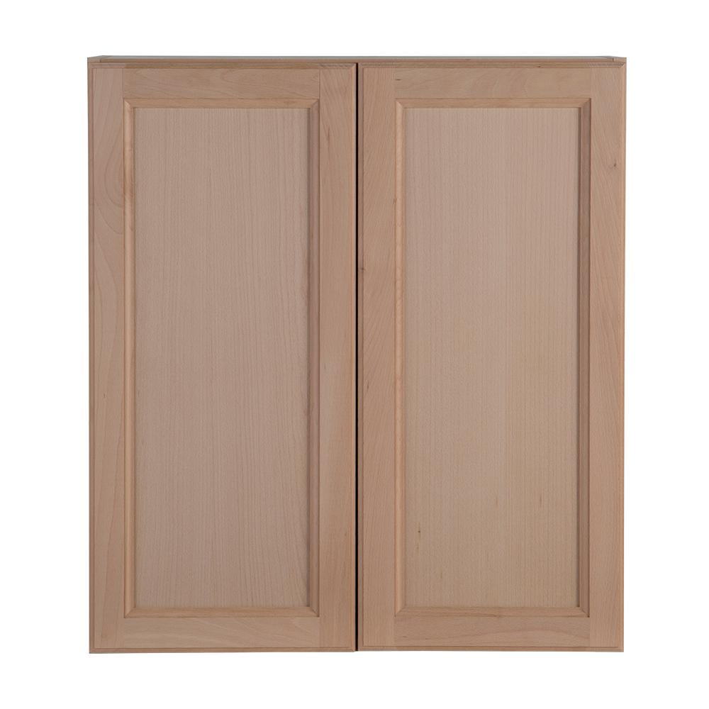 Hampton Bay Embled 27x30x12 In Easthaven Wall Cabinet Unfinished German Beech