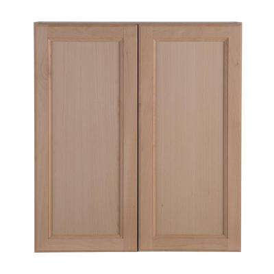 Assembled 27x12.5x30 in. Easthaven Wall Cabinet in Unfinished German Beech