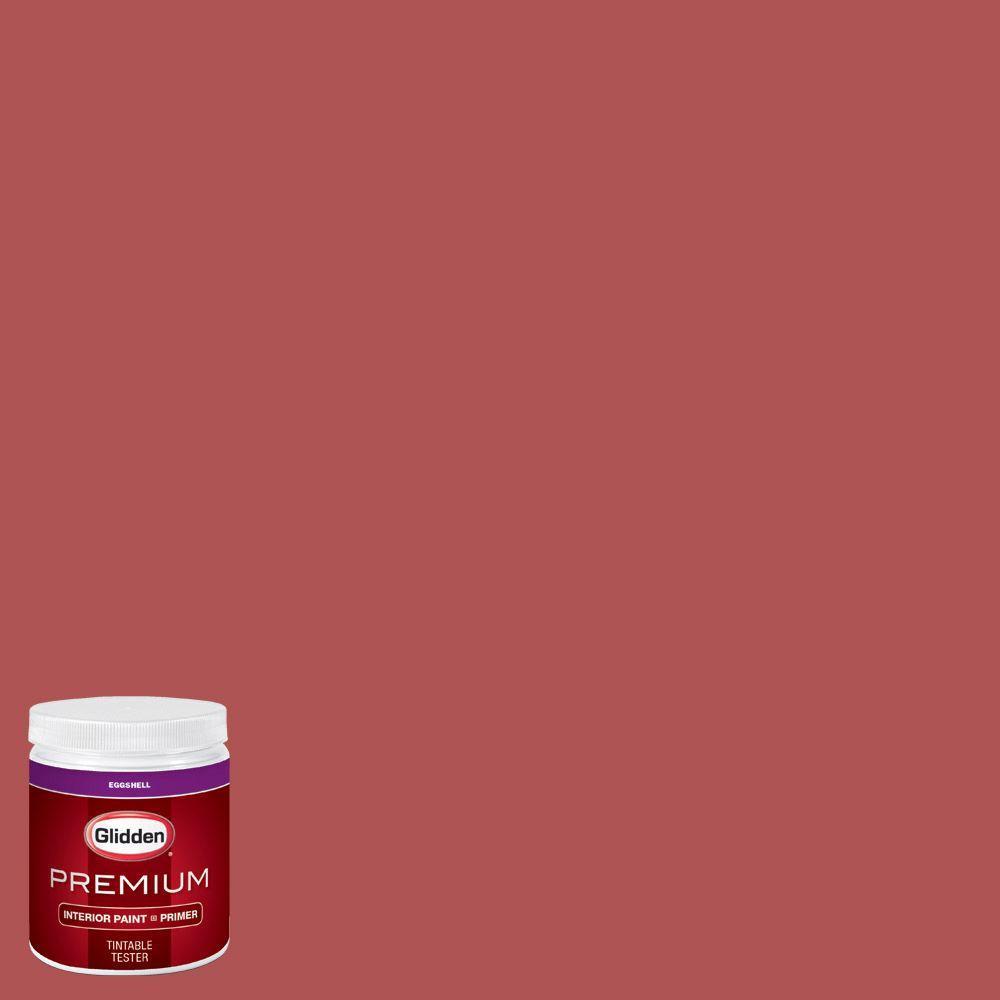 Glidden Premium 8 Oz Hdgr60d Terra Cotta Rose Eggshell Interior Paint With Primer Tester