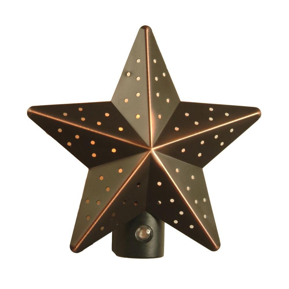 Amerelle Venetian Bronze Tin Star Automatic Night Light