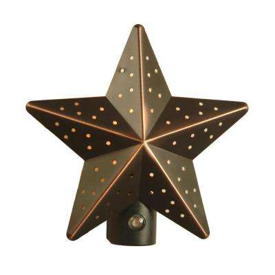 Venetian Bronze Tin Star Automatic Night Light