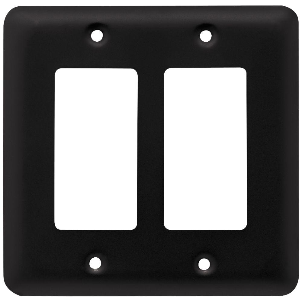 Black Switch Plates Extraordinary Liberty Stamped Round Decorative Double Rocker Switch Plate Flat Design Decoration