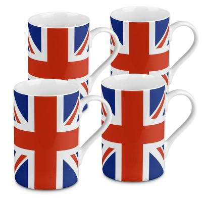 Konitz 4-Piece Flag Union Jack Porcelain Mug Set
