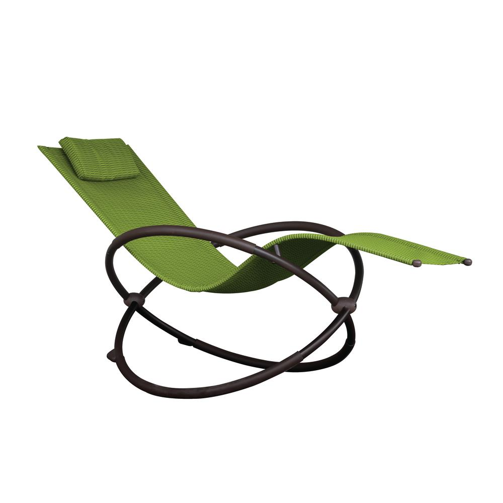 Fantastic Vivere Orbital Charcoal Steel Frame Outdoor Acrylic Mesh Lounge Chair In Green Gmtry Best Dining Table And Chair Ideas Images Gmtryco