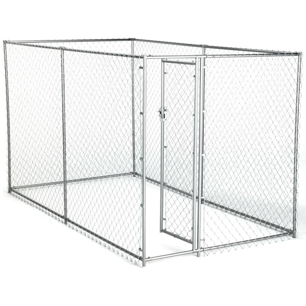 American Kennel Club 6 ft. x 10 ft. x 6 ft. Chain Link Kennel Kit ...