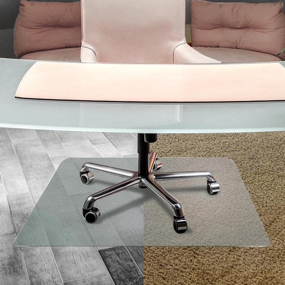 Anti-Slip Rectangular Chair Mat Hard Floors and Carpet Tiles - 35 x 47 in.