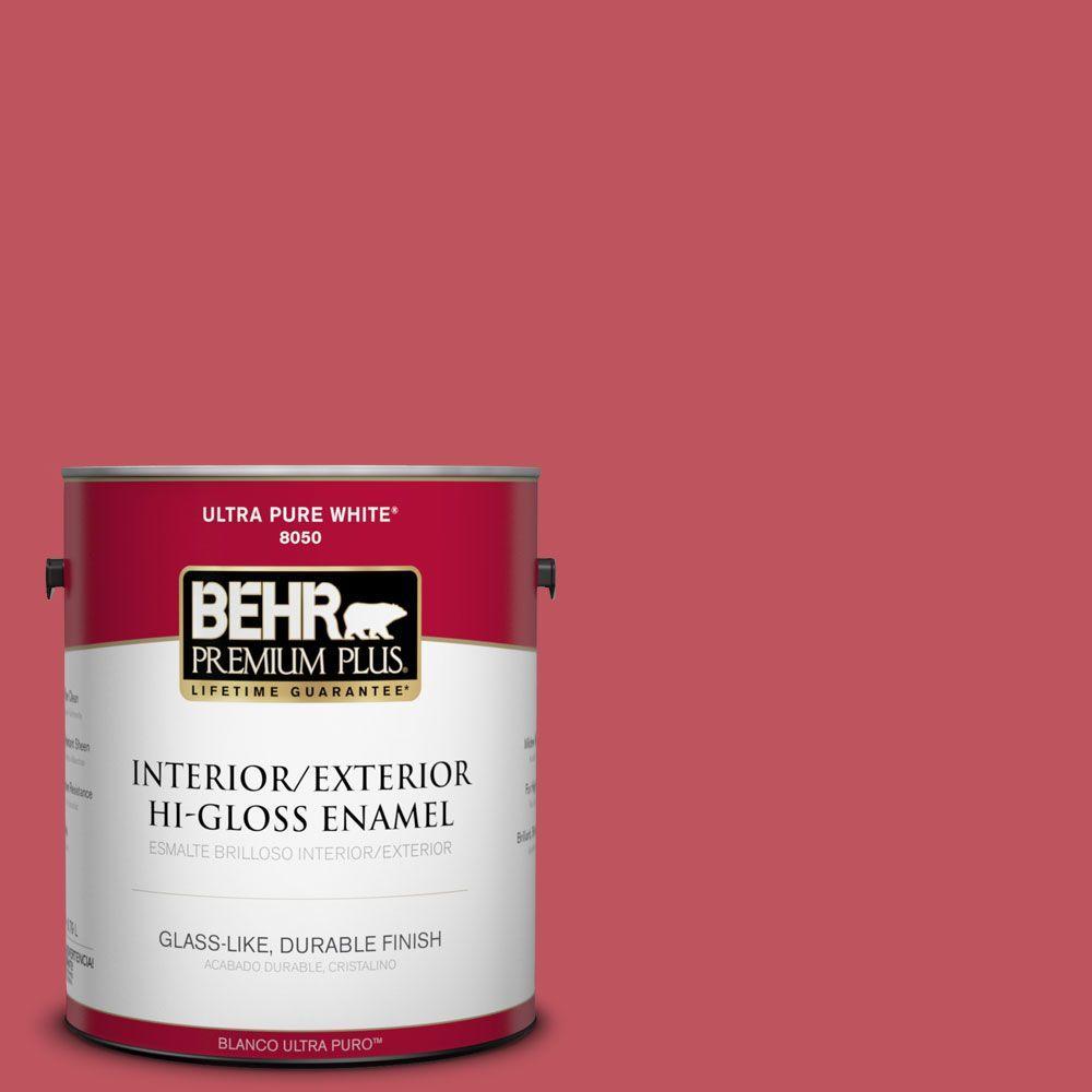 BEHR Premium Plus 1-gal. #P140-6 Hibiscus Flower Hi-Gloss Enamel Interior/Exterior Paint