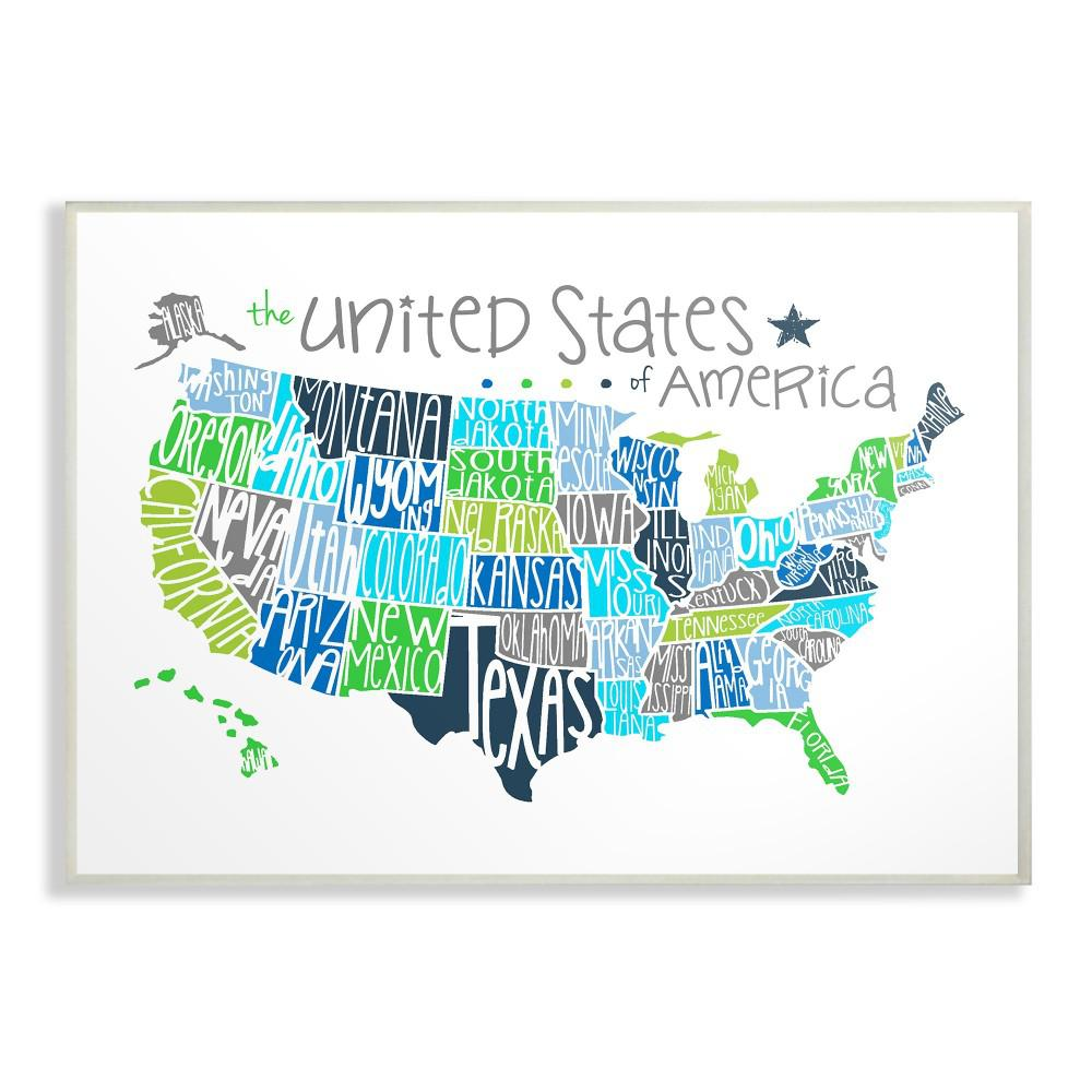 Wood United States Map.Stupell Industries 12 5 In X 18 5 In United States Map Colored