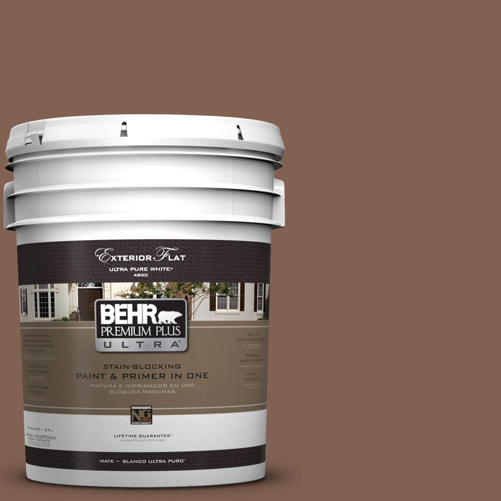 BEHR Premium Plus Ultra 5-gal. #HDC-SP14-6 Tilled Earth Flat Exterior Paint