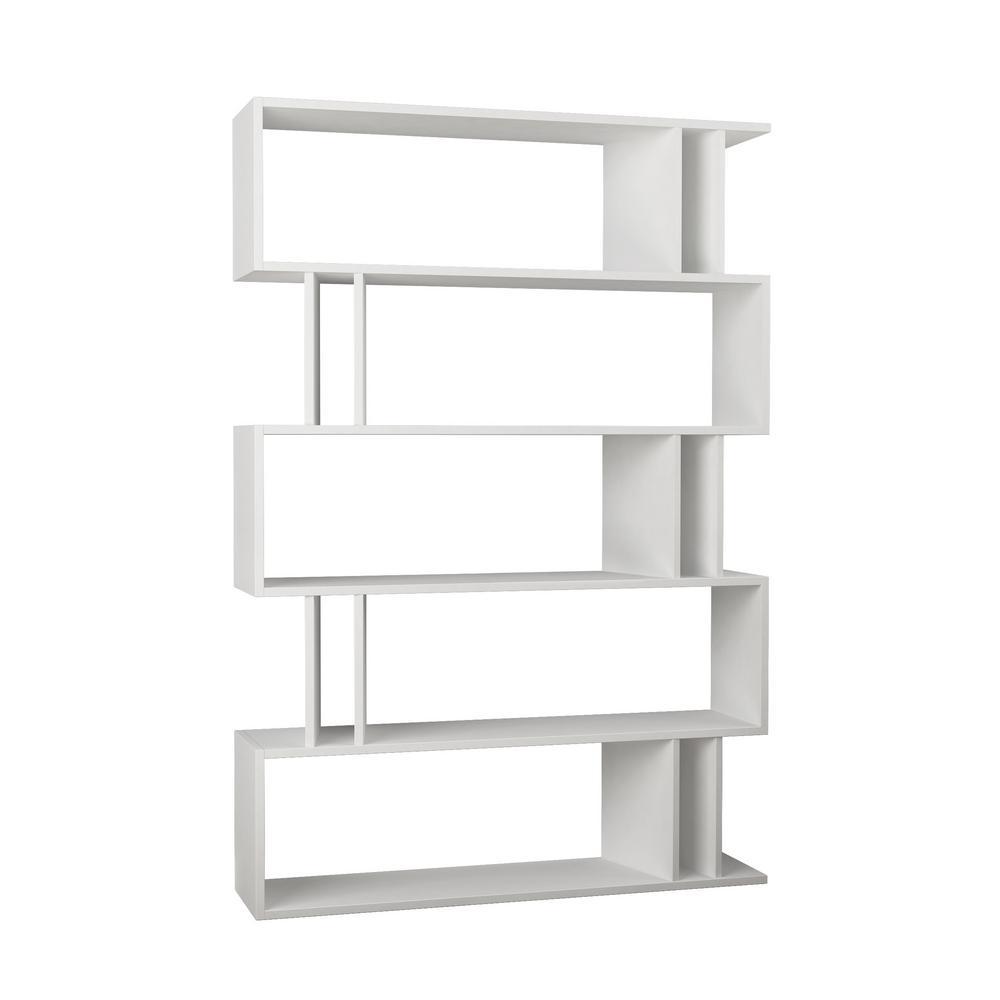 Berwyn White Mid-Century Modern Bookcase