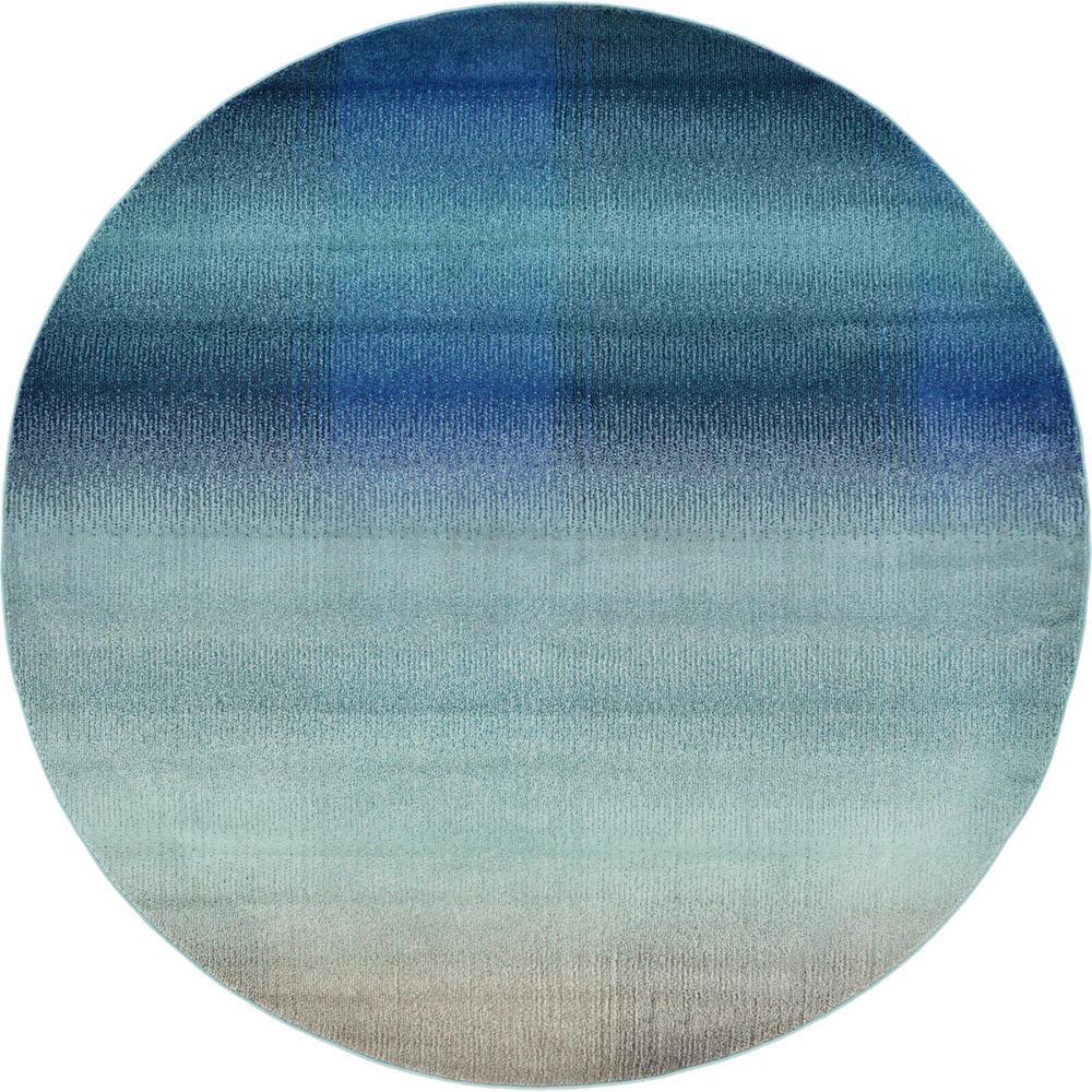 Estrella Azura Blue 8' 0 x 8' 0 Round Rug