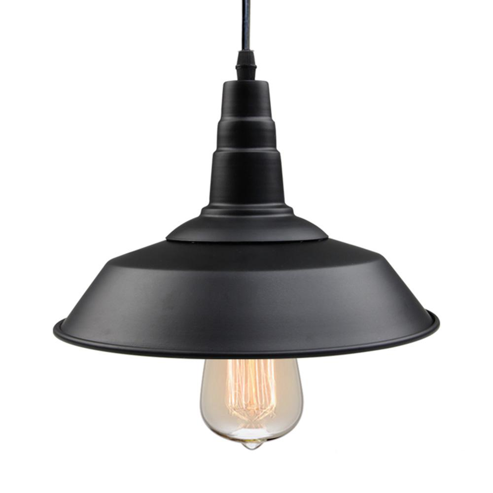 Lnc 1 light black indoor ceiling barn pendant light
