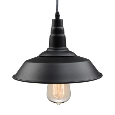 Barnyard II 1-Light Black Indoor Ceiling Barn LED Compatible Pendant Light
