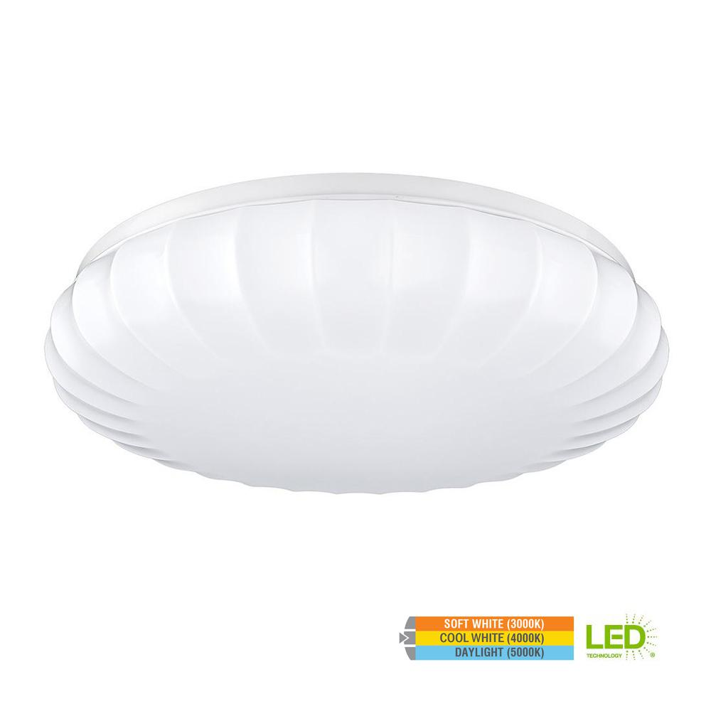 Carousel Style 11 in. Round White 60 Watt Equivalent Integrated LED