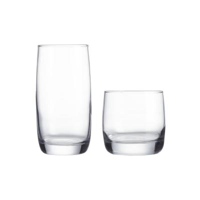 17 oz. and 10 oz. Glass Tumblers (Set of 16)