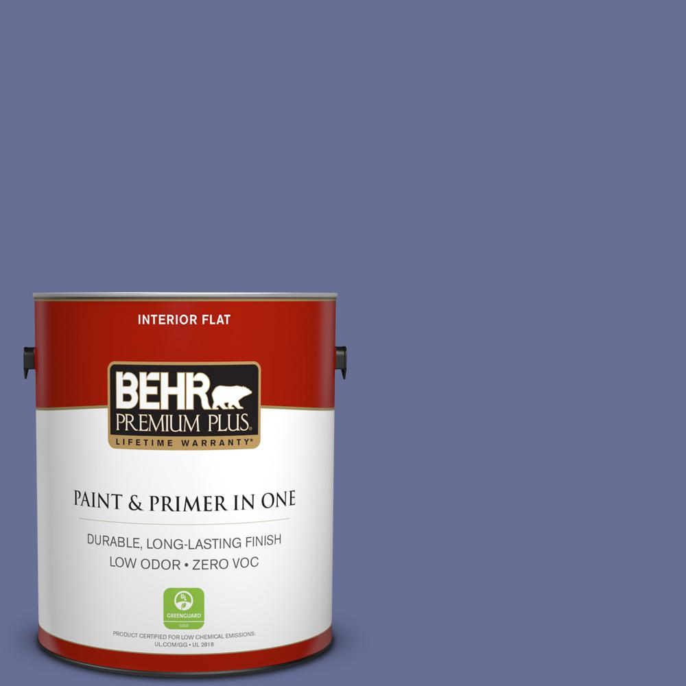 BEHR Premium Plus 1-gal. #620D-6 Royal Intrigue Zero VOC Flat Interior Paint