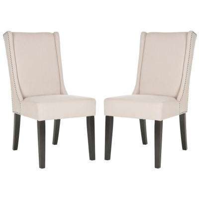 Sher Taupe/Espresso Linen Side Chair (Set of 2)