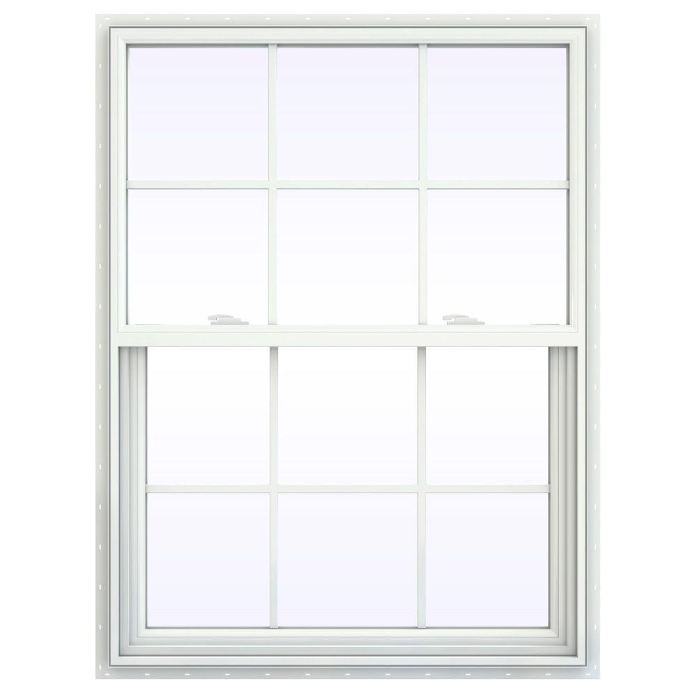 Jeld wen 35 5 in x 47 5 in v 2500 series single hung for Jeld wen windows