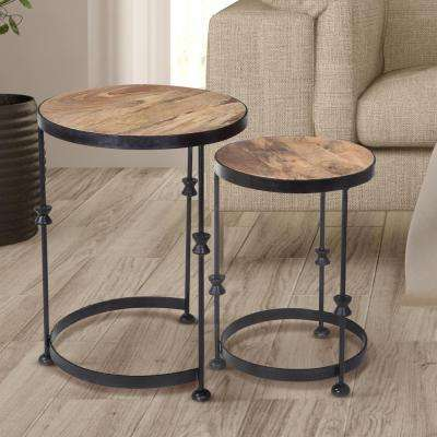 Natural Nesting End Table