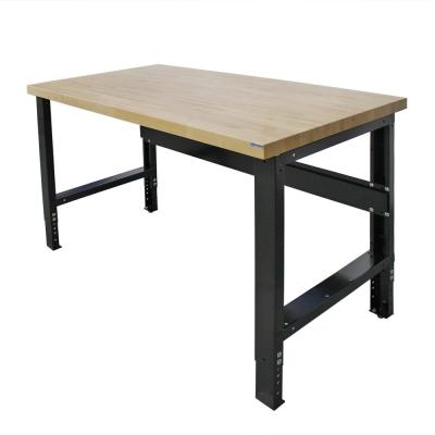 30 in. x 60 in. Heavy-Duty Adjustable Height Workbench with Solid Hardwood Top