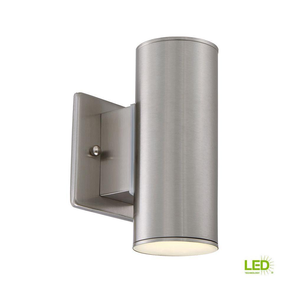 Barrow 3 in. Satin Platinum LED Wall Lantern