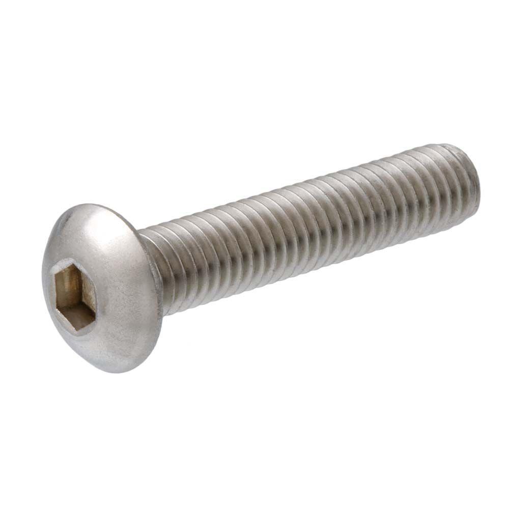 #10-0.8 x 1-1/4 in. Internal Hex Button-Head Cap Screws (2-Pack)