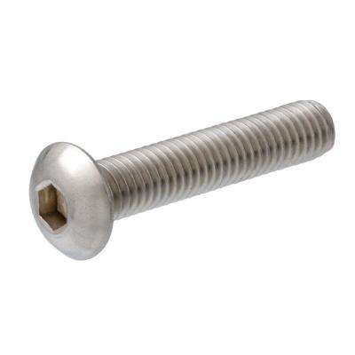 #10-0.8 x 1-1/4 in. Internal Hex Button-Head Cap Screws (2-Pack)