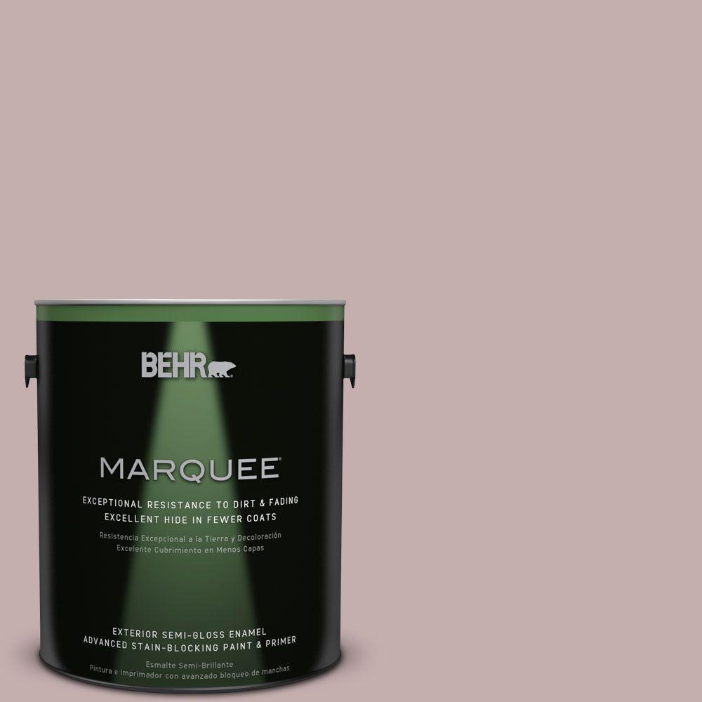 1 gal. #MQ1-45 Versailles Rose Semi-Gloss Enamel Exterior Paint