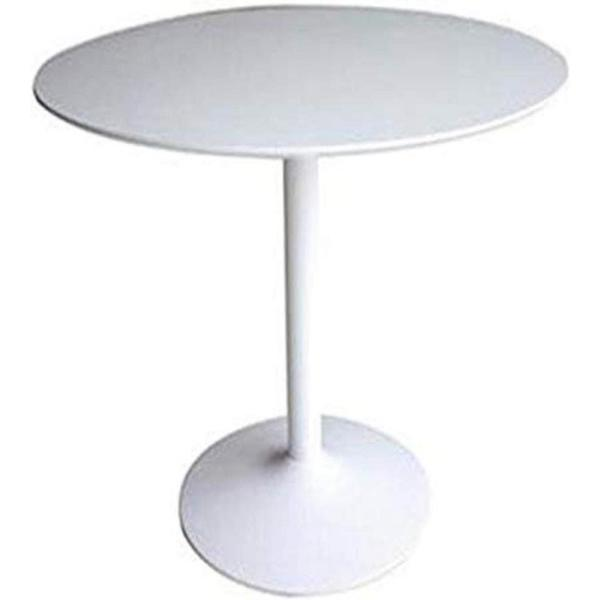 Contemporary White Round Dining Table