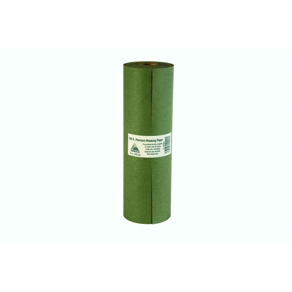 6 in. x 180 ft. Green Premium Masking Paper