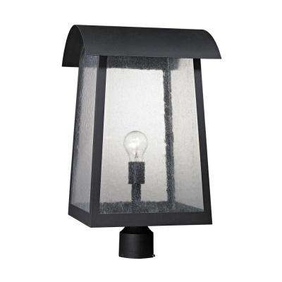 Prince Street 1-Light Matte Black Outdoor Post Lamp