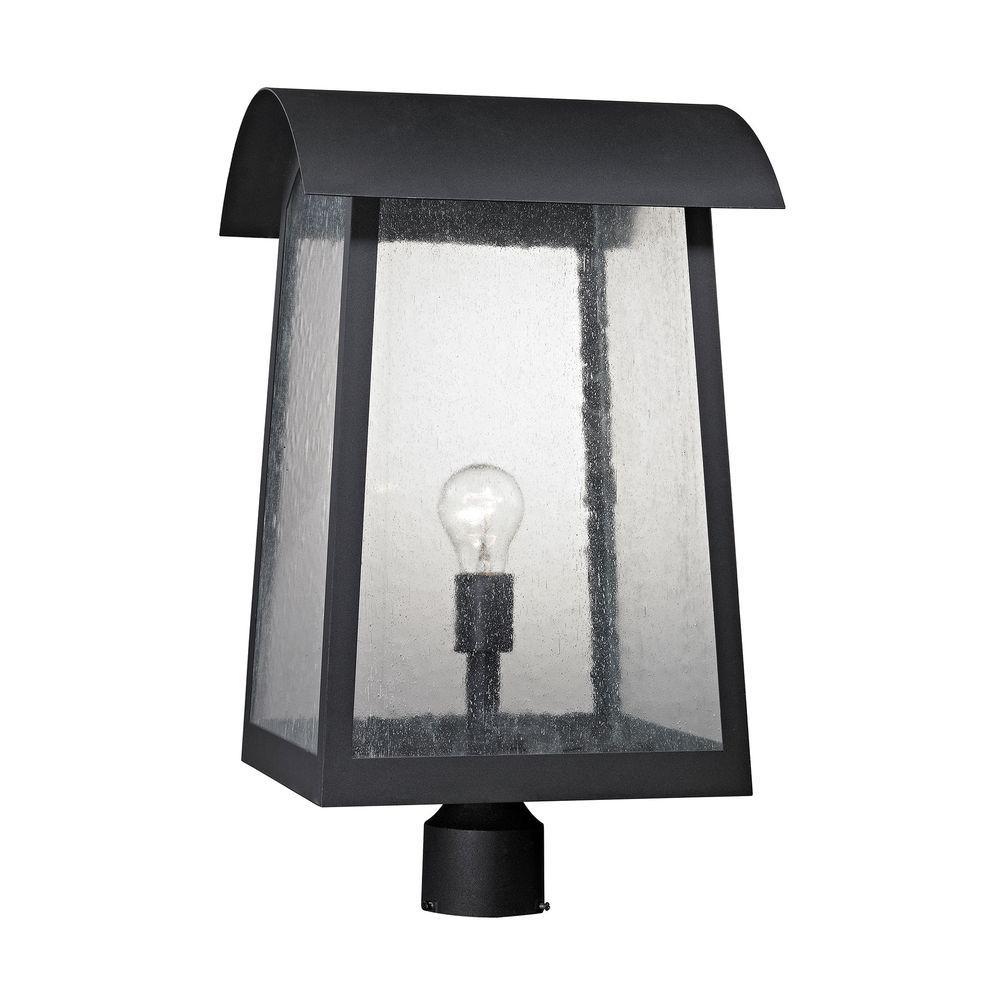 Prince Street 1-Light Matte Black Outdoor Post Lamp