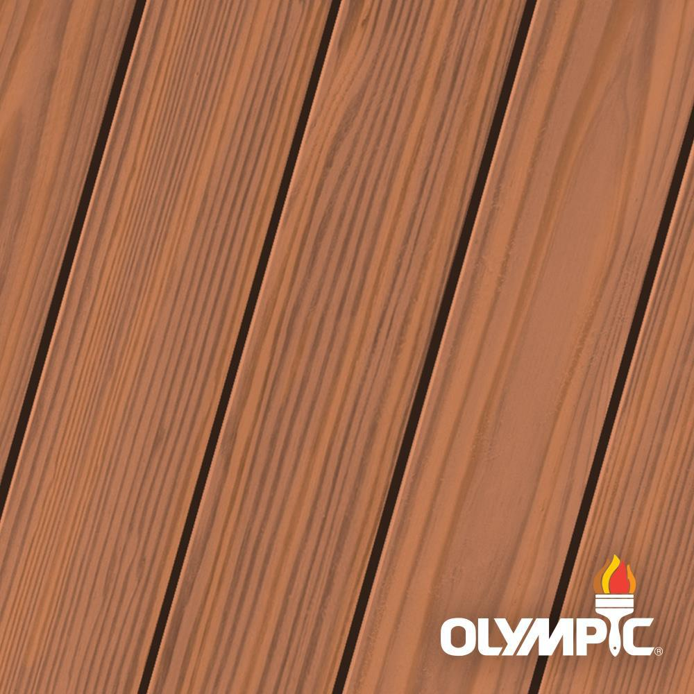 Olympic Maximum 1 gal. Redwood Semi-Transparent Exterior Ready to Use Stain and Sealant in One Low VOC