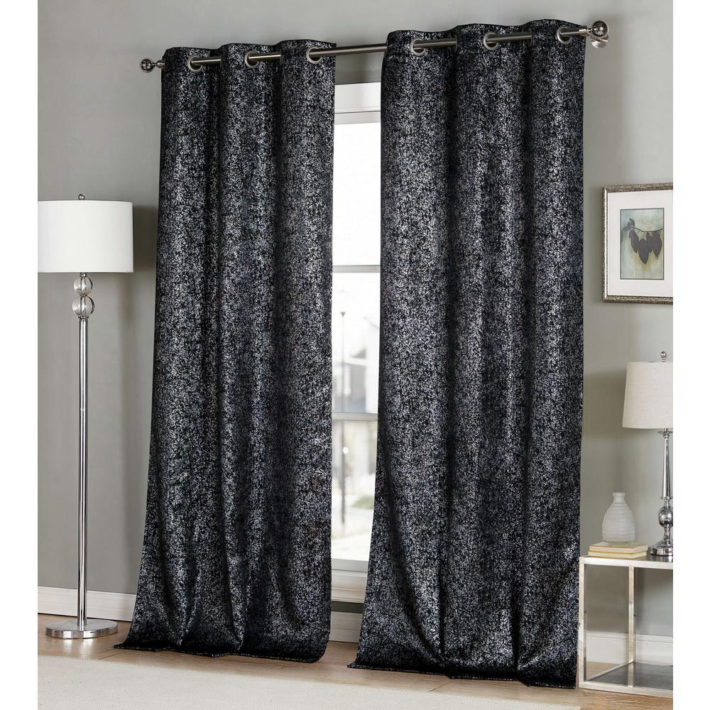Maddie 38 in. x 96 in. L Polyester Blackout Curtain Panel