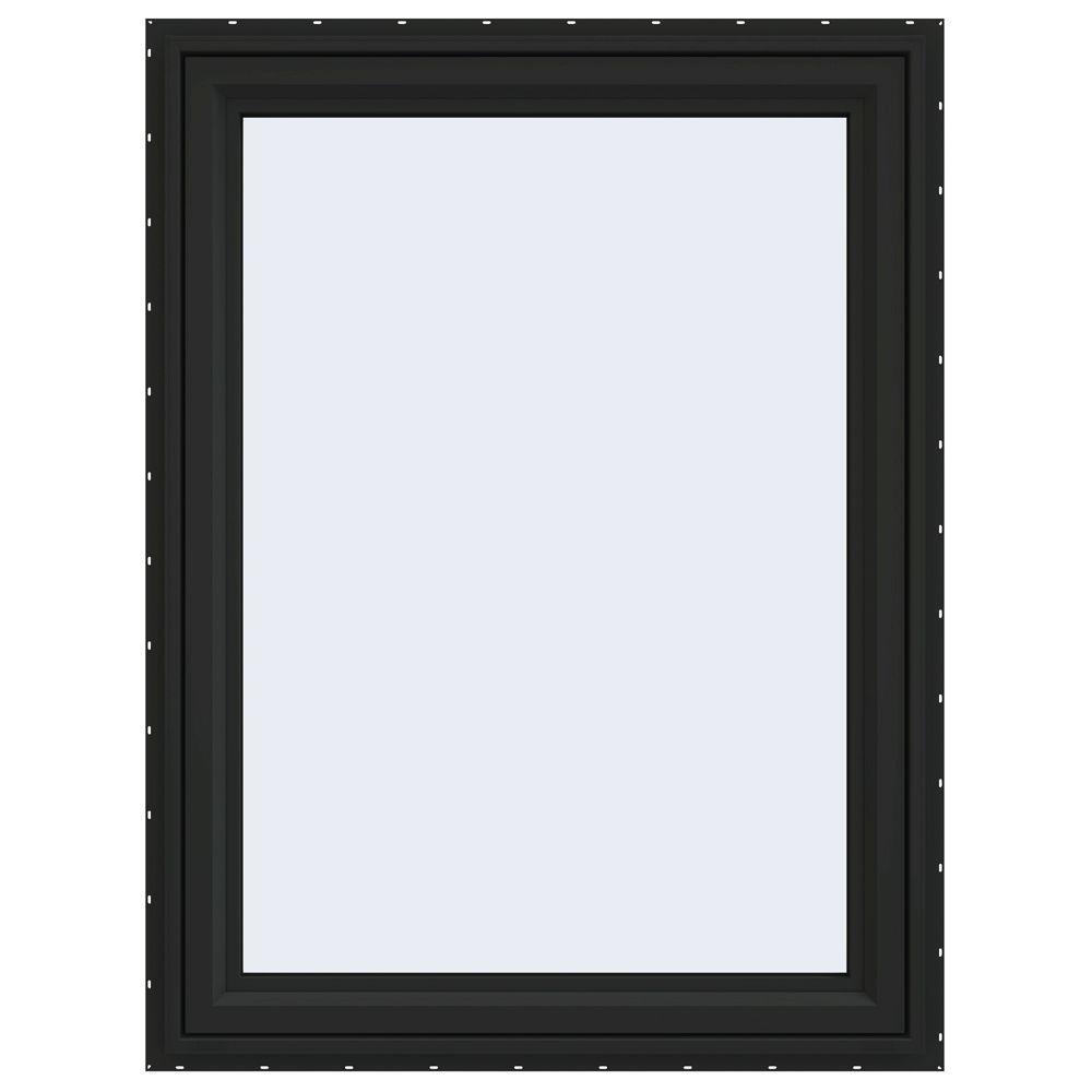 35.5 in. x 47.5 in. V-4500 Series Right-Hand Casement Vinyl Window - Bronze