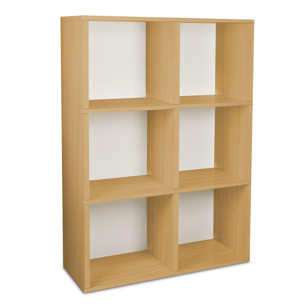 Way Basics Tribeca 32.1 in. L x 44.8 in. H Natural zBoard, Eco Friendly, Tool-Free Assembly, Stackable 6-Cube-DISCONTINUED