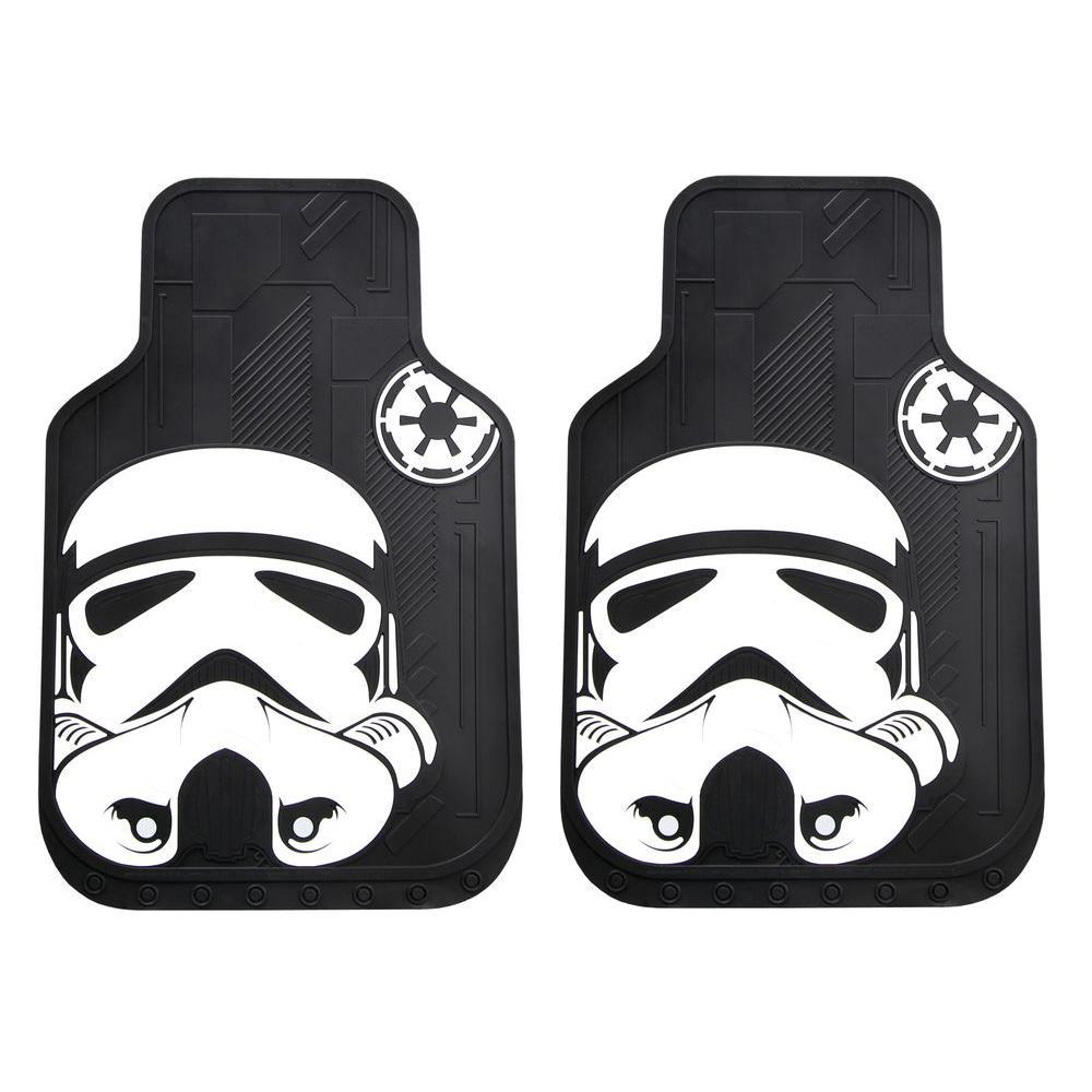 Star Wars Stormtrooper Heavy Duty 2-Piece 27 in. x 18 in. Vinyl Car Mats