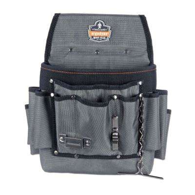 Arsenal 11 in. Pocket Electrician's Pouch Tool Bag, Gray