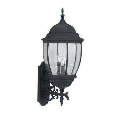 Tiverton 3-Light Black Outdoor Wall-Mount Lantern