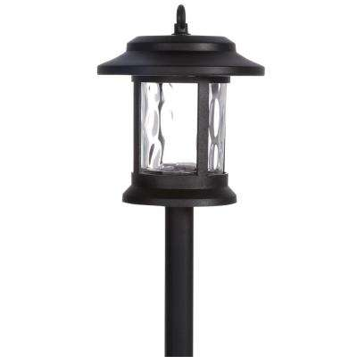 Solar LED Black Lantern Pathway Light (6-Pack)