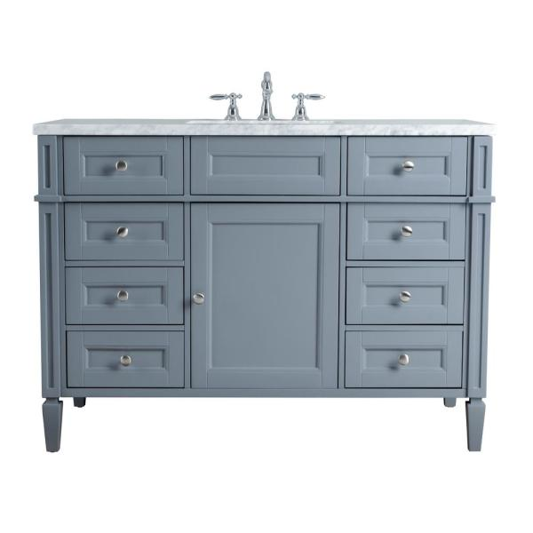 Grey Single Sink Bathroom Vanity