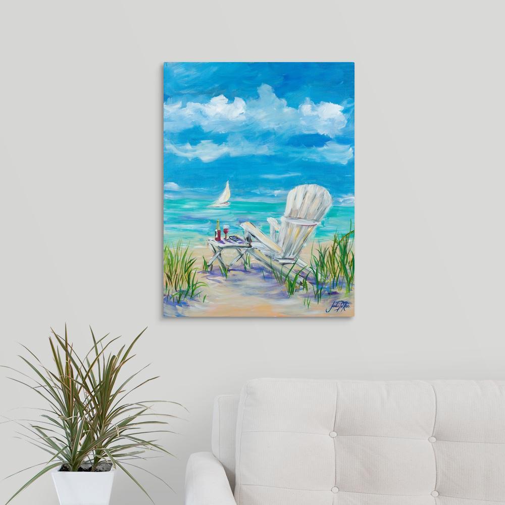 "GreatBigCanvas GreatBigCanvas ""Beach Lounging""by Julie DeRice Canvas Wall Art, Multi-Color"