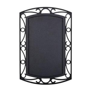 Hampton Bay Wireless or Wired Door Bell, Black with Scroll Metal Accent by Hampton Bay