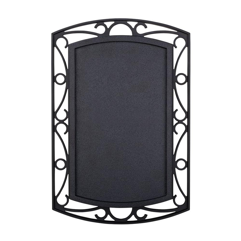 Wireless or Wired Door Bell, Black with Scroll Metal Accent